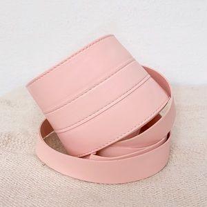 Vegan Leather Sweet Pink Obi Belt Wrap Belt